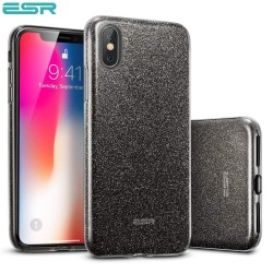 ESR Makeup Glitter case for iPhone X, Black