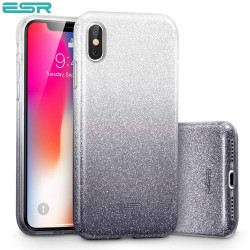 ESR Makeup Glitter case for iPhone X, Ombre Black