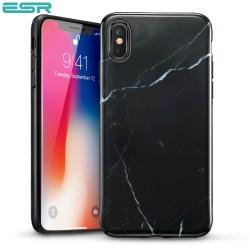 ESR Marble case for iPhone X, Black Sierra
