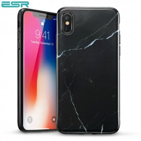 Carcasa ESR Marble iPhone X, Black Sierra