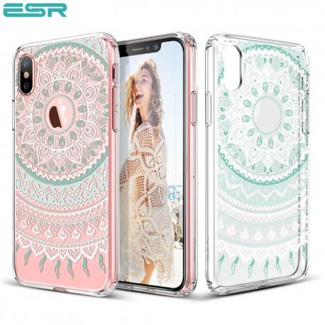 ESR Totem case for iPhone X, Mint Mandala