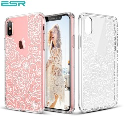 ESR Totem case for iPhone X, Lace Ice Flower