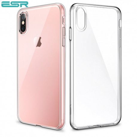ESR Eseential Zero slim case for iPhone X, Clear White