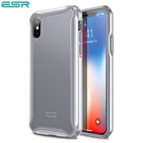 ESR Glacier case for iPhone X, Silver