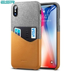 ESR Metro case for iPhone X, Gray / Brown