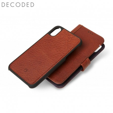 Decoded leather Detachable Wallet for iPhone XS Max, Brown