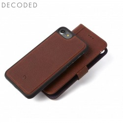 Decoded leather Detachable Wallet for iPhone 8 , 7, 6s, 6, Brown