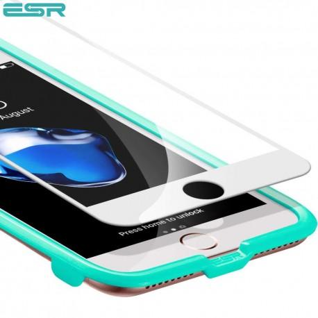 Folie sticla securizata ESR, Tempered Glass Full Coverage iPhone 8 / 7, White Edge