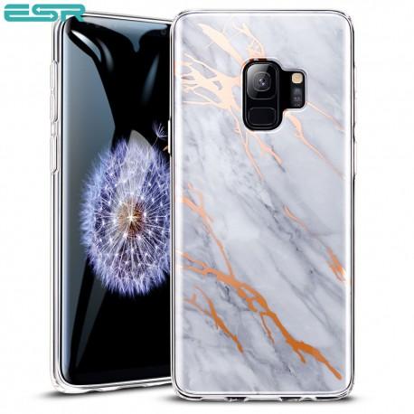 Carcasa ESR Marble Samsung Galaxy S9, Gray Gold Sierra