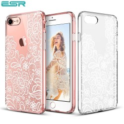 ESR Totem case for iPhone 8 / 7, Lace Ice Flower
