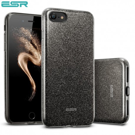 ESR Makeup Glitter case for iPhone 8 / 7, Black