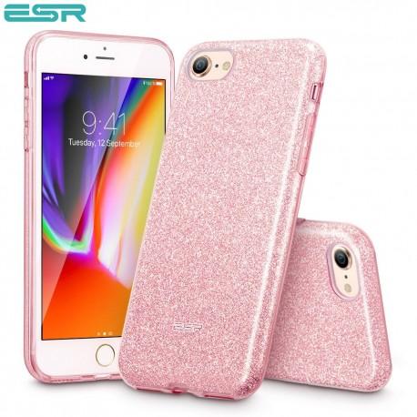Carcasa ESR Makeup Glitter iPhone 8 / 7, Rose Gold