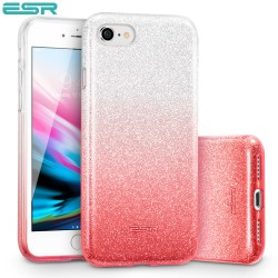 Carcasa ESR Makeup Glitter iPhone 8 / 7, Ombre Pink