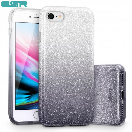 Carcasa ESR Makeup Glitter iPhone 8 / 7, Ombre Black
