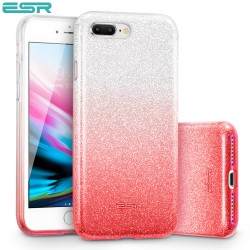 ESR Makeup Glitter case for iPhone 8 Plus / 7 Plus, Ombre Pink