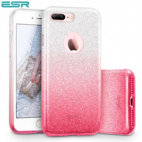 Carcasa ESR Makeup Glitter Sparkle Bling iPhone 8 Plus / 7 Plus, Ombra Pink