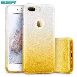 Carcasa ESR Makeup Glitter Sparkle Bling iPhone 8 Plus / 7 Plus, Ombra Gold
