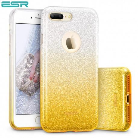 ESR Makeup Glitter Sparkle Bling case for iPhone 8 Plus / 7 Plus, Ombra Gold