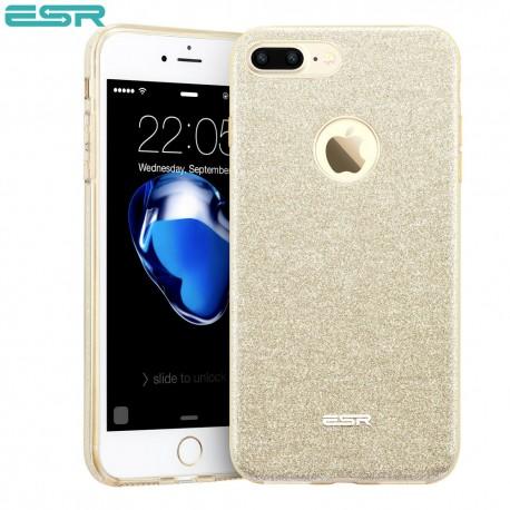 Carcasa ESR Makeup Glitter iPhone 8 Plus / 7 Plus, Champagne Gold