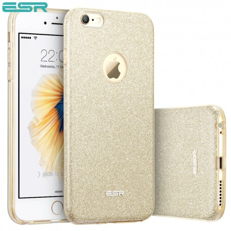 Carcasa ESR Makeup Glitter iPhone 6s / 6, Champagne Gold