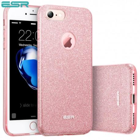 Carcasa ESR Makeup Glitter Sparkle Bling iPhone 8 / 7, Rose Gold