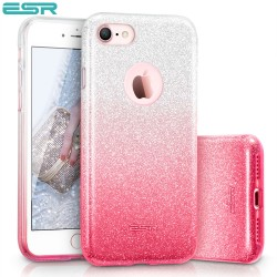 ESR Makeup Glitter Sparkle Bling case for iPhone 8 / 7, Ombra Pink