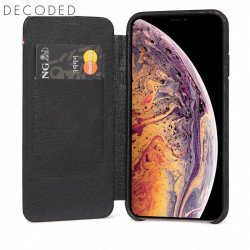 Carcasa piele Decoded Slim Wallet iPhone XS Max , Black