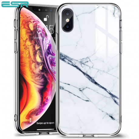 ESR Mimic-Marble case for iPhone XS / X, White
