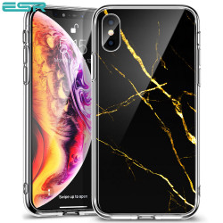 Carcasa ESR Mimic-Marble iPhone XS / X, Black