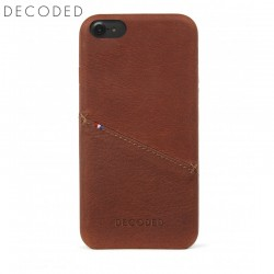 Leather back cover for iPhone 8 / 7 / 6s / 6 (4,7 inch) Decoded brown