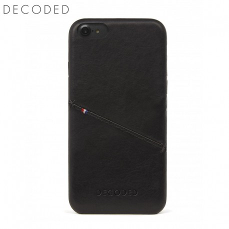 Husa piele capac spate pentru iPhone 8 / 7 / 6s / 6 (4,7 inch) Decoded neagra