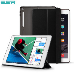 Carcasa ESR Yippee Color Plus iPad 9.7 inchi 2017 / 2018, Black