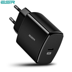 ESR Power Delivery (PD) Charger 18W, 1 USB-C, Black