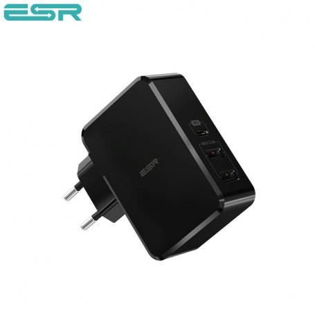 Incarcator de retea ESR Power Delivery (PD) Charger 41W, 2 porturi USB, Black