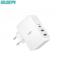 ESR Power Delivery (PD) Charger 41W, 1 USB-C + 2 USB-A, White