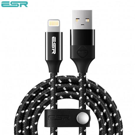 Cablu de incarcare-sincronizare ESR Lightning , Black, 1m
