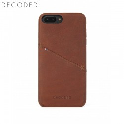 Leather back cover for iPhone 8 Plus / 7 Plus / 6s Plus / 6 Plus (5,5 inch) Decoded brown