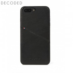 Leather back cover for iPhone 8 Plus / 7 Plus / 6s Plus / 6 Plus (5,5 inch) Decoded black