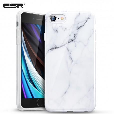 ESR iPhone SE 2020 / 8 / 7 Marble Slim Soft Case, White