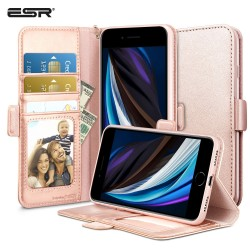 Carcasa ESR iPhone SE 2020/8/7 Flip Wallet Case, Rose Gold