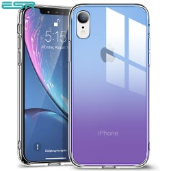 ESR Mimic Ice Shield case for iPhone XR, Blue Purple