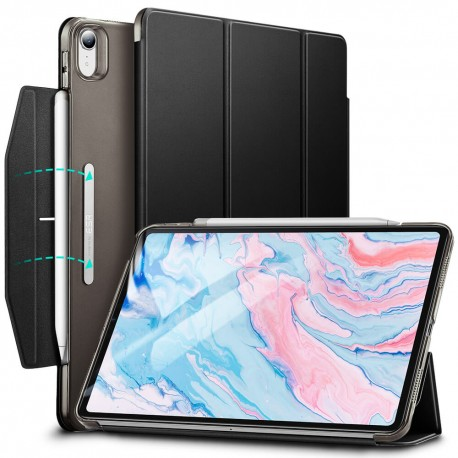 Carcasa ESR iPad Air 4 10.9 inchi (2020) Yippee Trifold with Clasp, Jelly Black