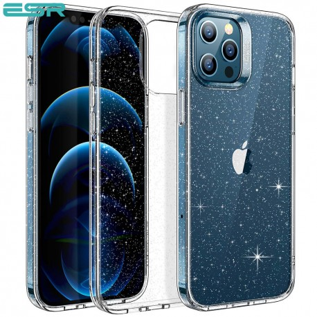 ESR Shimmer - Clear Glitter Case for iPhone 12/12 Pro