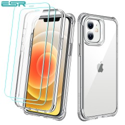 ESR Alliance - Clear frame case for iPhone 12 mini + 2 Tempered-Glass Screen Protectors