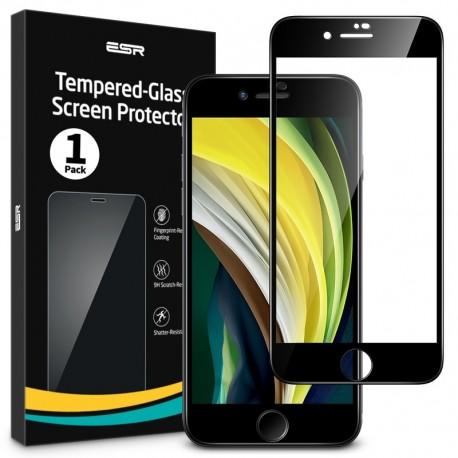 Folie sticla securizata ESR, Tempered Glass Full 3D Coverage iPhone SE 2020/8/7, Black Edge