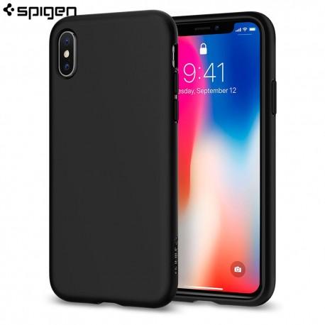 Carcasa Spigen iPhone X Case Liquid Crystal, Matte Black