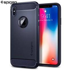 Spigen iPhone X Case Rugged Armor, Midnight Blue